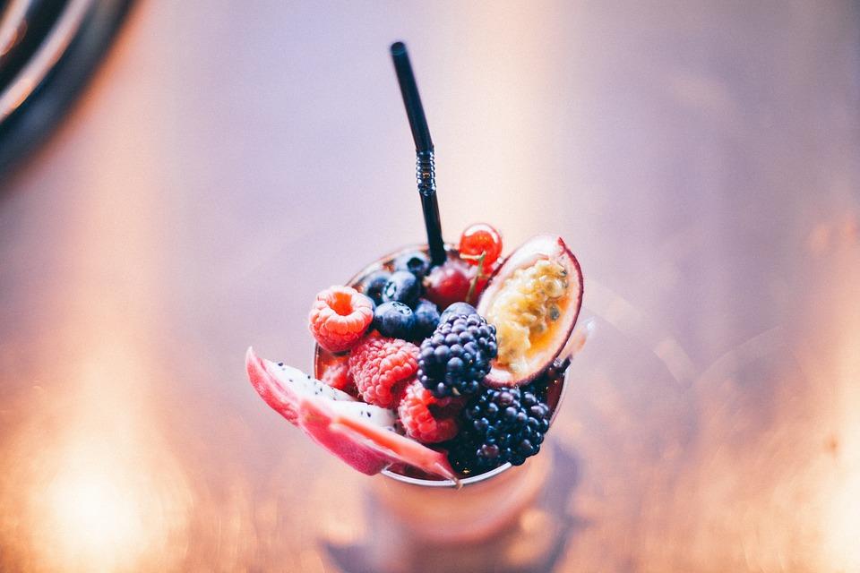 Raspberries, Blackberries, Blueberries, Fruits, Dessert