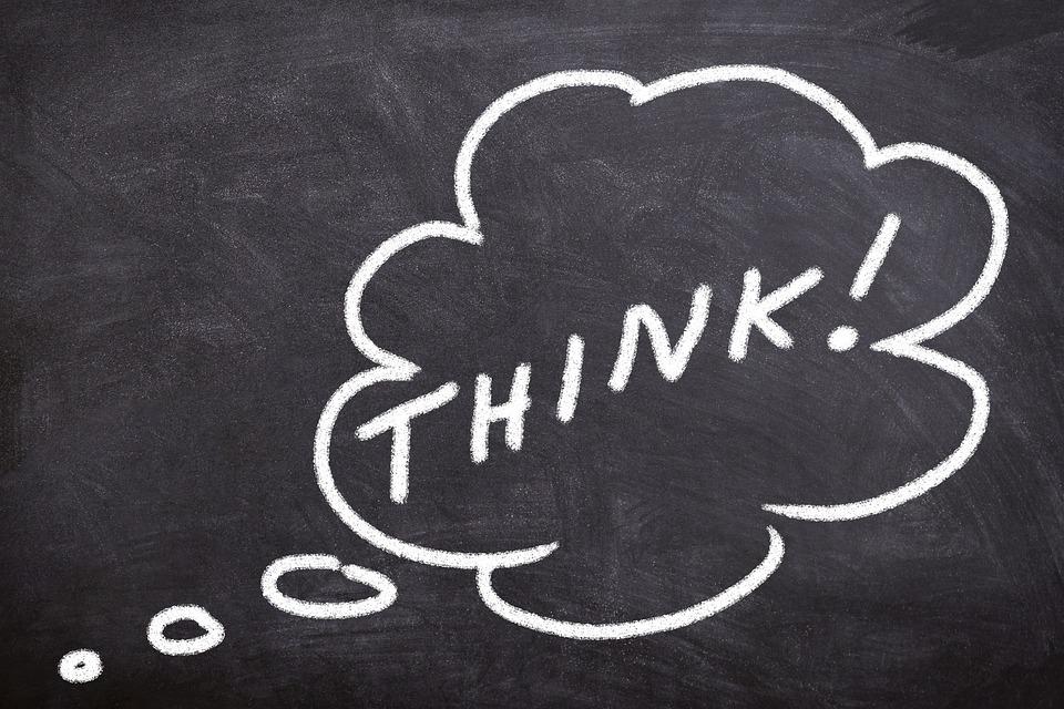 Blackboard, Think, Education, Idea, School, Solution