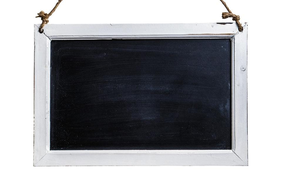 Chalkboard, Sign, Black, Blackboard, Isolated, White
