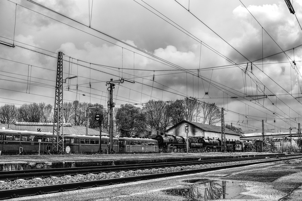 Dramatic, Blackjack, Nostalgic, Train, Railway Station