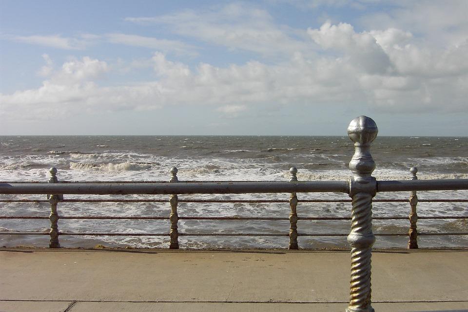 Blackpool, Ocean, Sea, Promenade, Beach, Sand, England