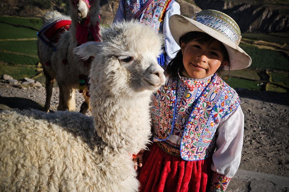 Peru, The Colca Valley, Inca, Ande, Little Girl, Blade