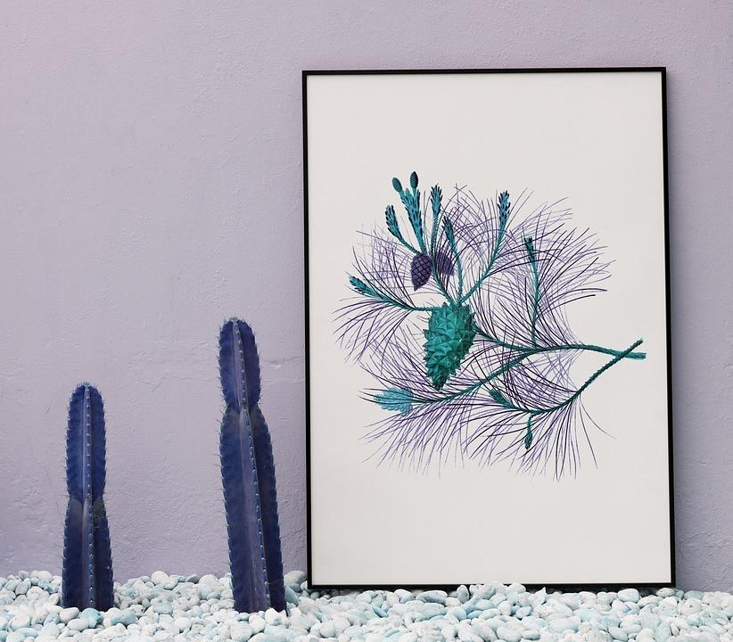 Nature, Blank, Board, Cactus, Copy Space, Decor