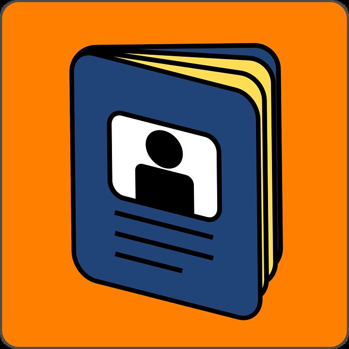 Passport, Blue, Orange, Frame, Blank, Identification