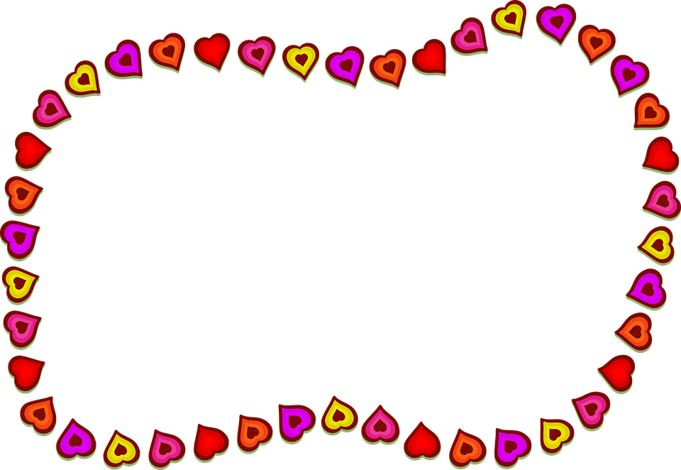 Hearts, Shapes, Border, Frame, Blank, Copyspace