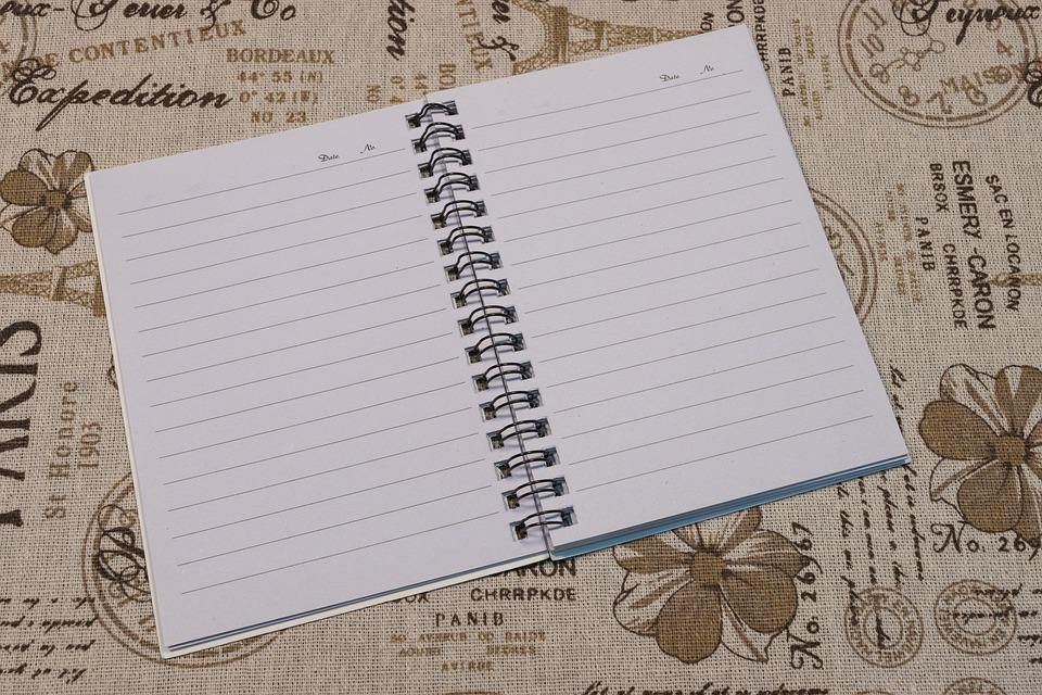 Notebook, Diary, Notes, Open Notebook, Blank Page, Page