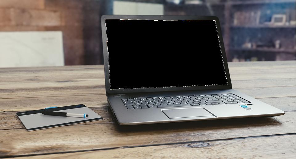 Free photo Blank Screen Transparent White Laptop Computer ...