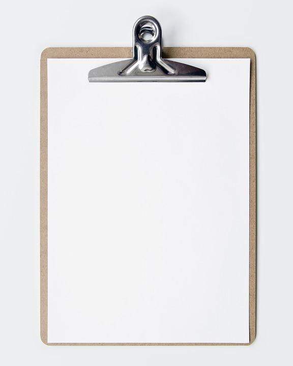 Clipboard, Blank, Empty, Show, Business, Paper