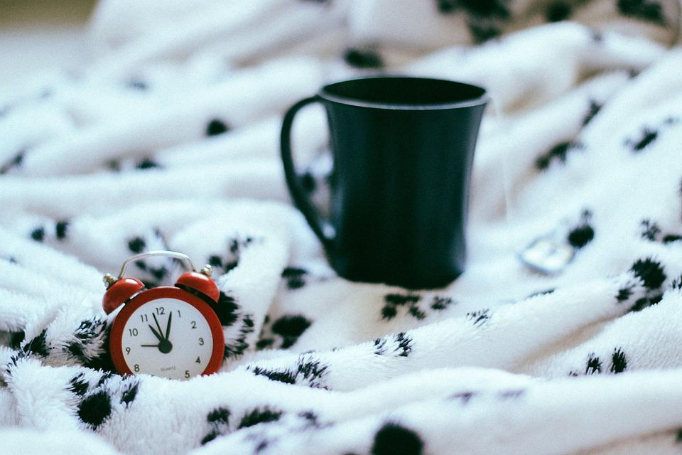 Bed, Sheet, Blanket, Room, Interior, Alarm, Clock, Tea