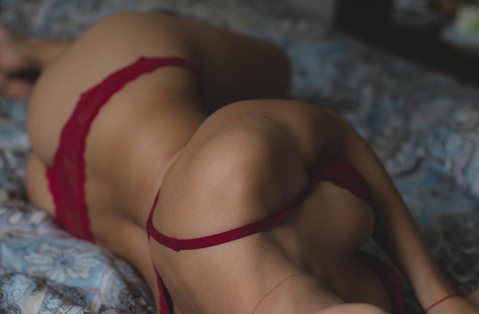 Adult, Beautiful, Bed, Bedroom, Blanket, Bra, Female