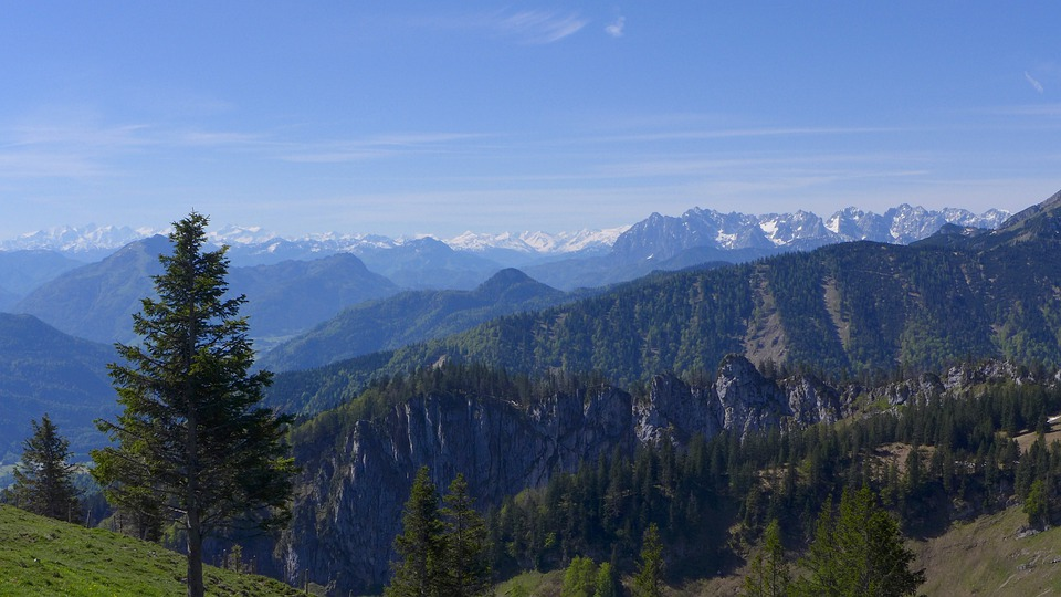 High Mountains, Alpine, Panorama, Good View, Blautöne