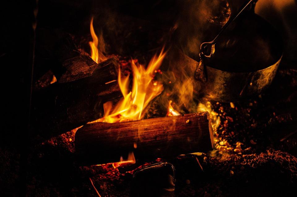 High Contrast, Fire, Camping, Embers, Hot, Blaze