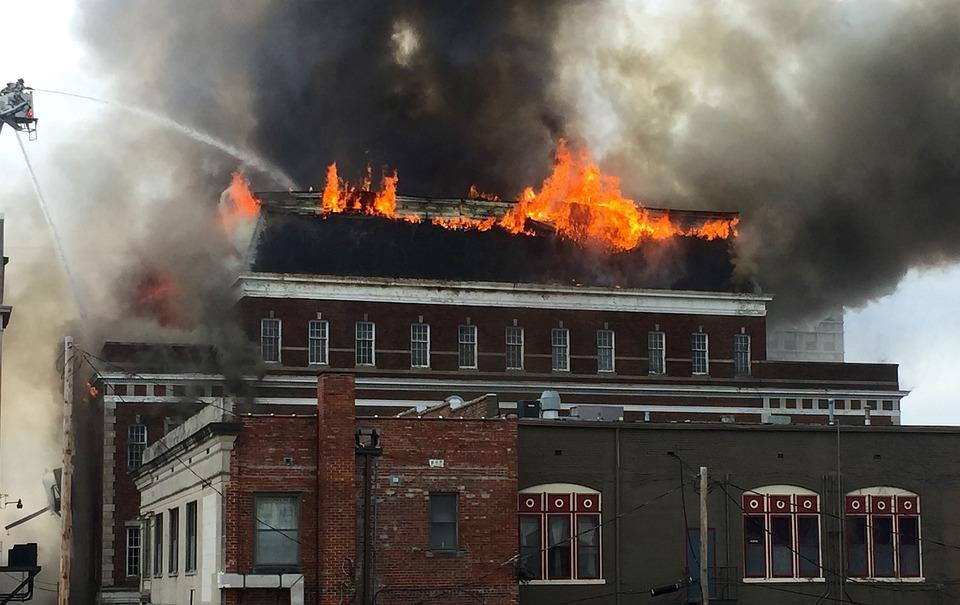 Fire, Building, Blaze