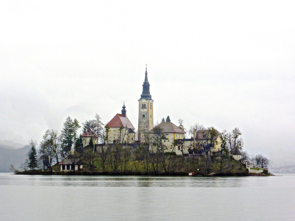 Church, Island, Bled, Historic, Lake, Landmark