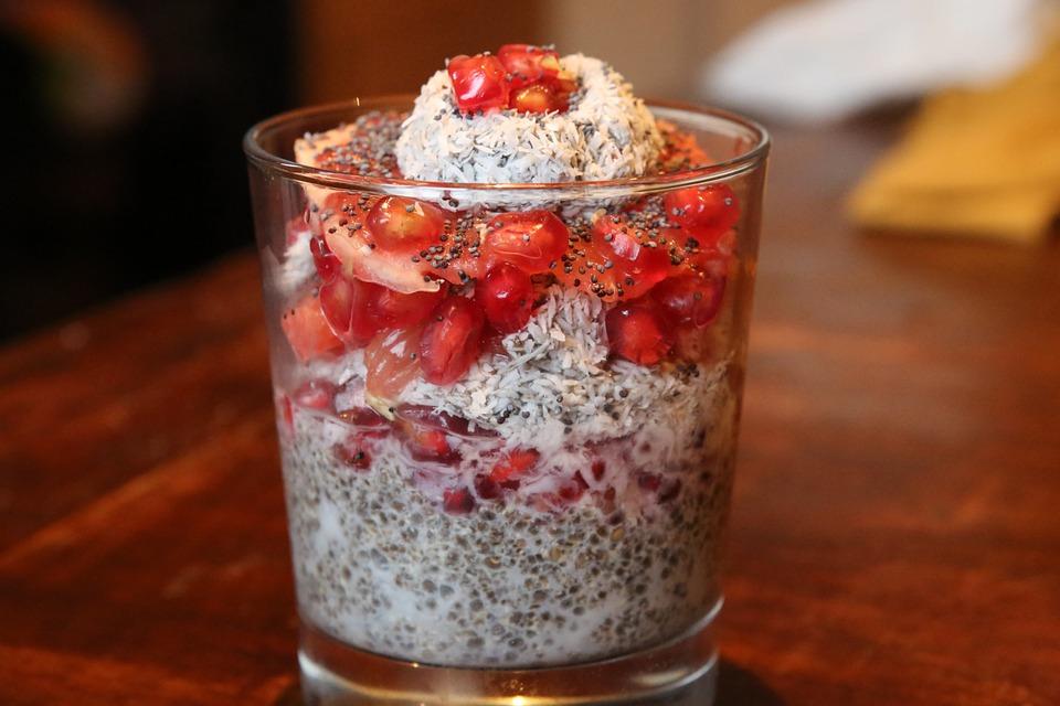 Chia, Dessert, Granada, Grapefruit, Coconut, Bless You