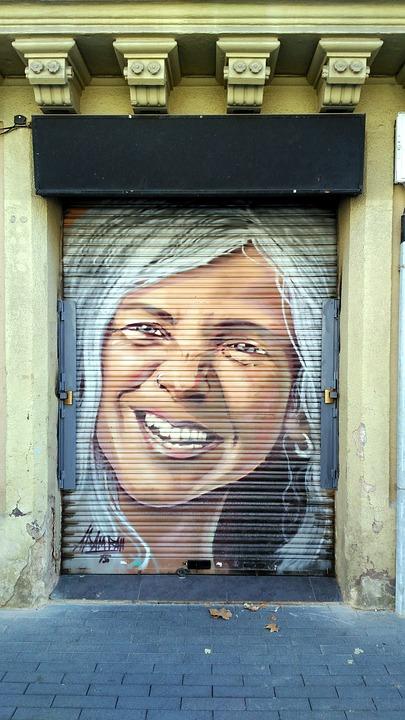 Graffiti, Painting, Art, Urban, Blind, Face, Women
