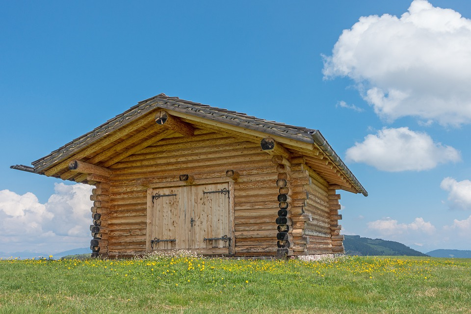Mountain Hut, Block House, Hut, Log Cabin, Woodhouse
