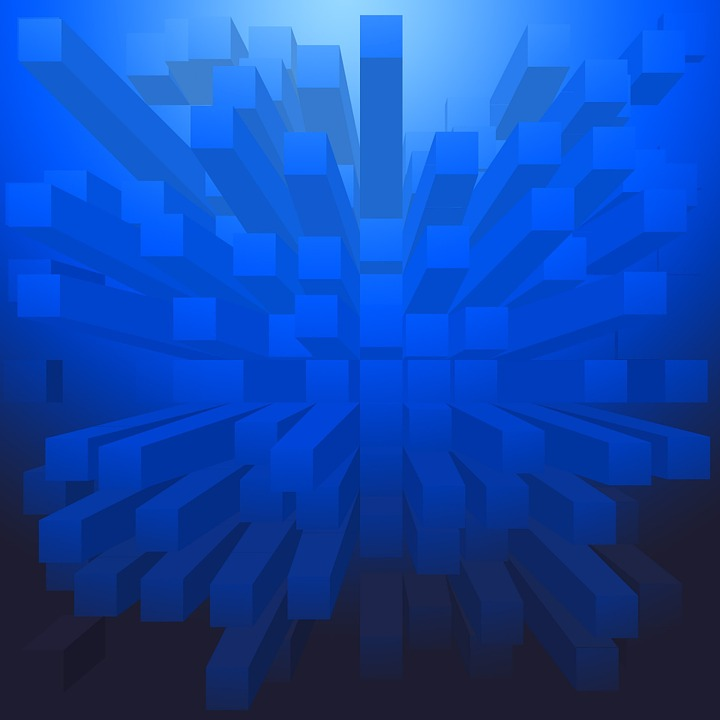Abstract, Background, Blue, Blocks, Shapes, Pattern