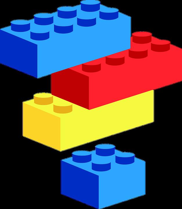 Blocks, Building, Brick, Plastic, Toy, Pieces