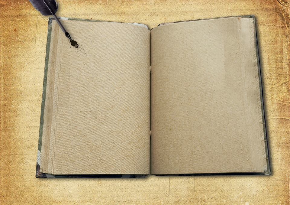 Book, Empty, Pen, Diary, Old, Vintage, Note, Blog