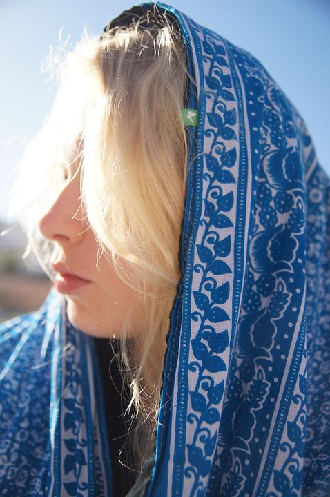Blond, Sun, Scarf, Veil, Morocco, Holiday, Travel