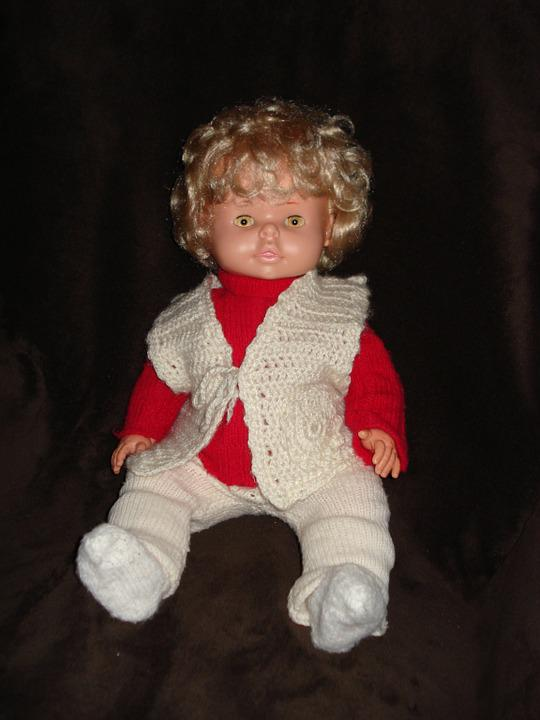 Doll, Toys, Blond, Girl, Child