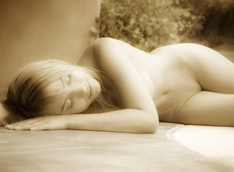 Woman, Empty, Sleeping, Nude, Erotic, Blond, Blonde