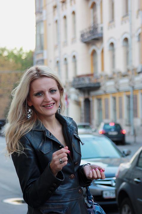 Blonde, Girl, Street, Stroll, Portrait, City, Moscow