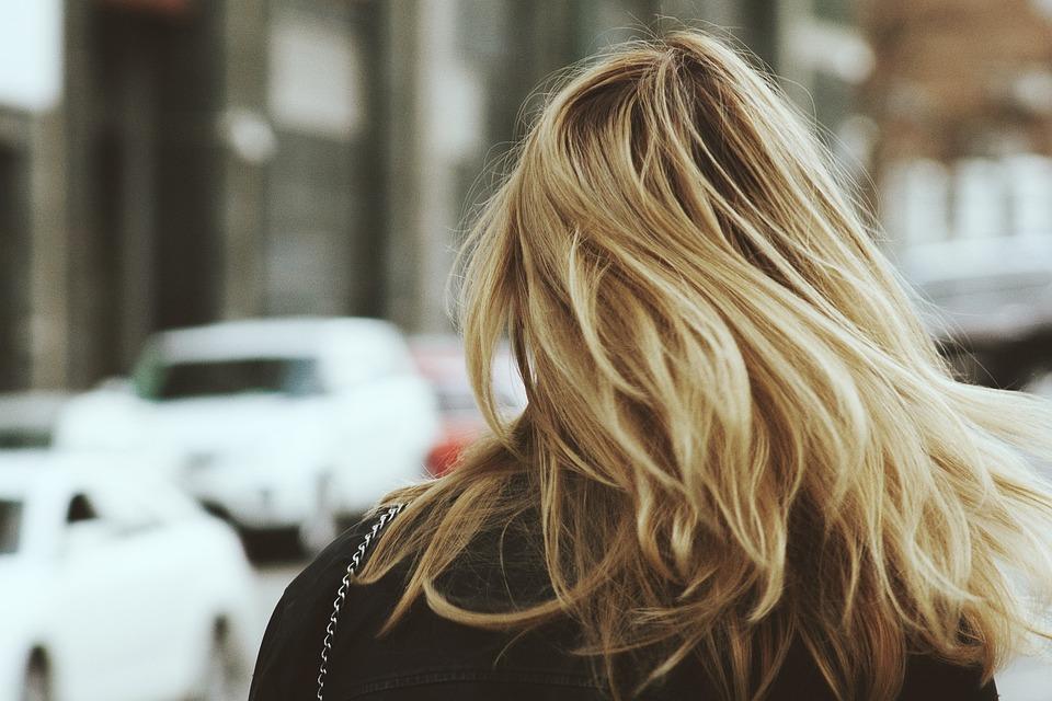 Blond, Blonde, Hair, Macro, Woman