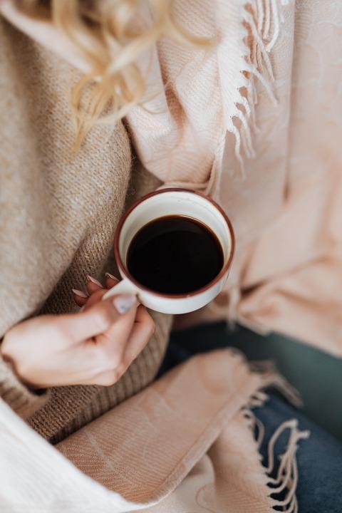 Cup, Coffee, Drink, Blonde, Woman, Girl, Female
