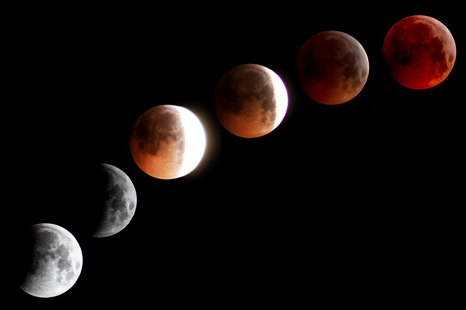 Moon, Blood Moon, Super Moon, Moonlight, Night