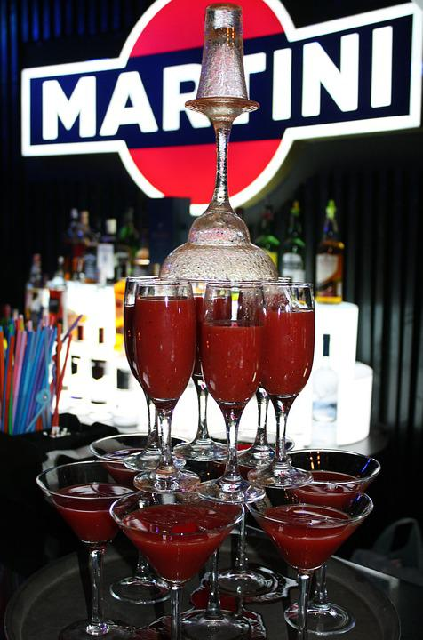 Cocktails, Blood Mary, Bloody, Glass, Drink, Red