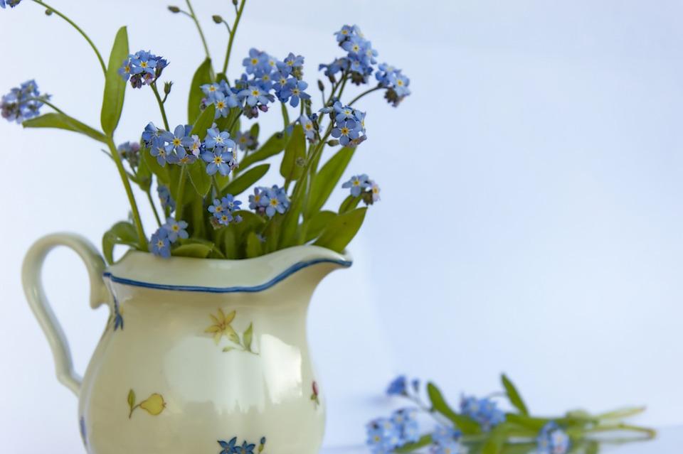 Forget Me Not, Flowers, Bouquet, Bloom, Decoration