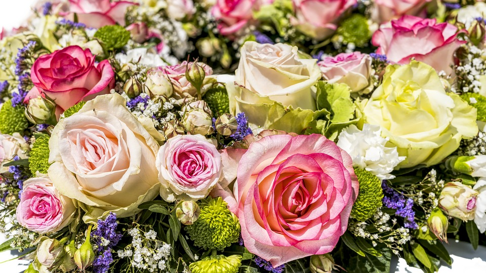 Flowers, Bouquet, Roses, Wedding, Blossom, Bloom