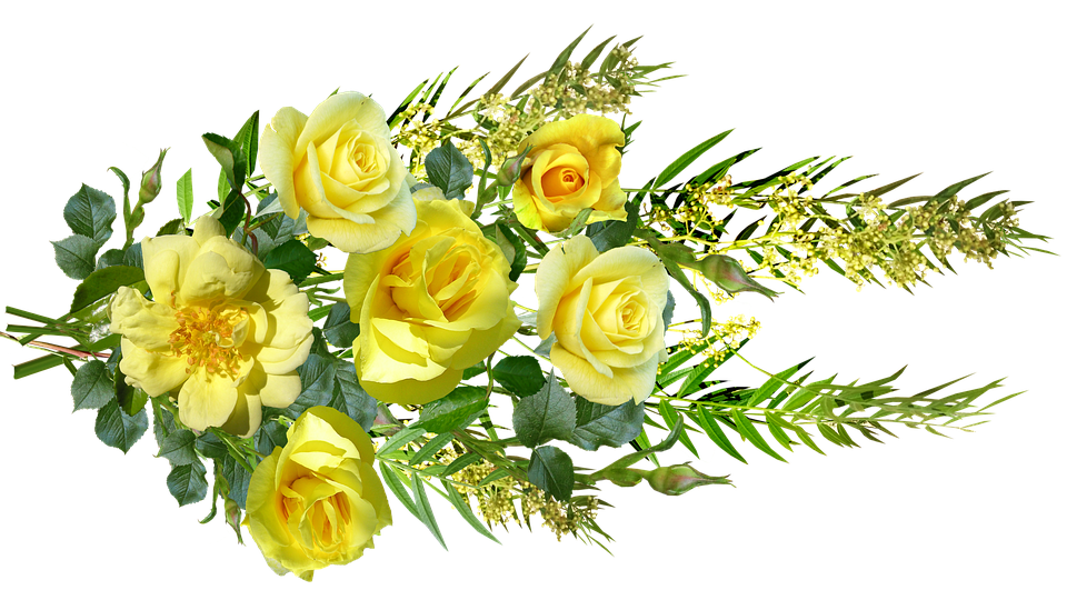 Free photo Blooms Yellow Flowers Bouquet Roses Arrangement - Max Pixel