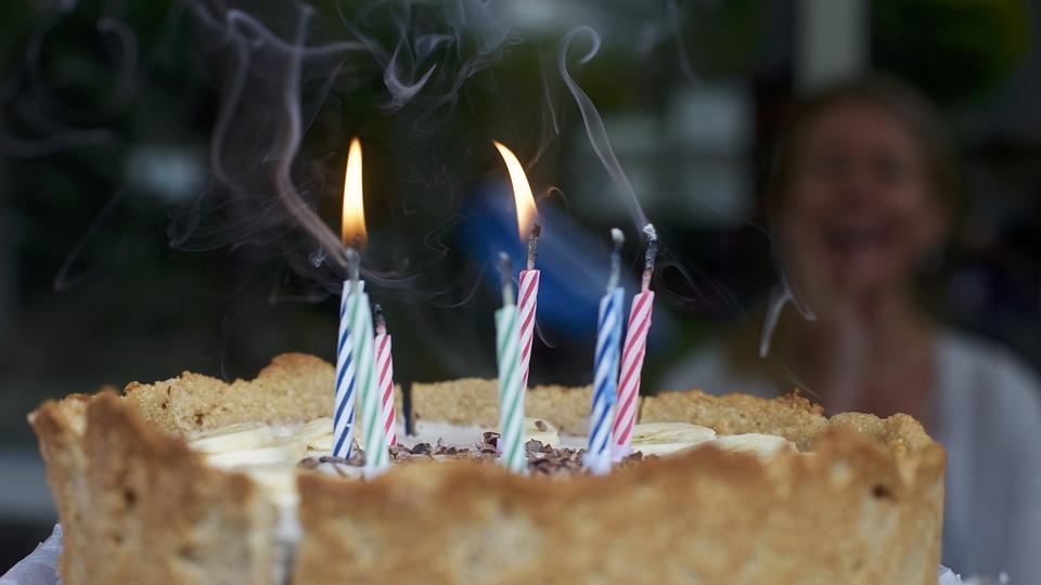 Birthday, Birthday Cake, Blowing, Cake, Candles