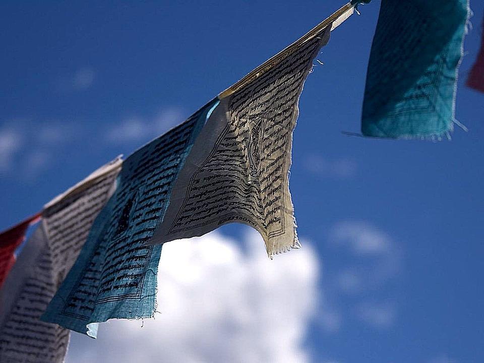 Prayer, Flags, Breeze, Blowing, Buddhism, Buddhist