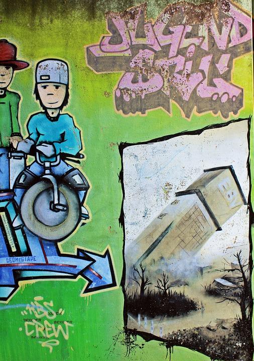 Graffiti, Zeche Anna, Anna-park, Alsdorf, Blowing Up