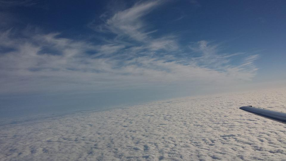 Clouds, Sky, Morning, Blue, Scenic, Airplane, Flight