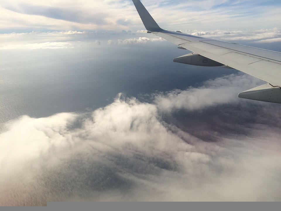 Airplane, Clouds, Sky, Travel, Flight, Blue, Fly