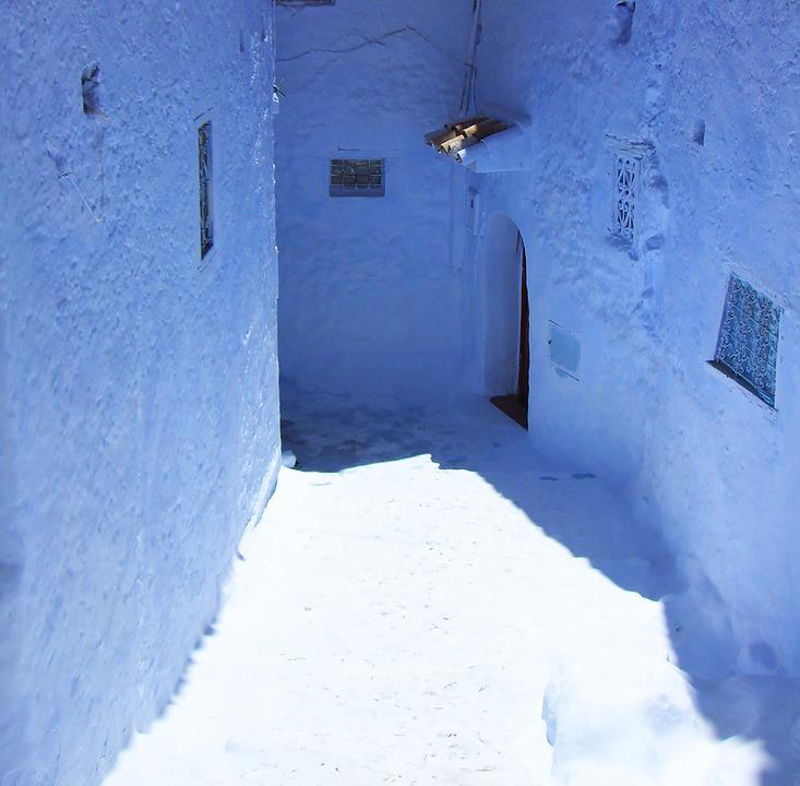 Chefchaouen, Morocco, North Africa, Alley, Blue