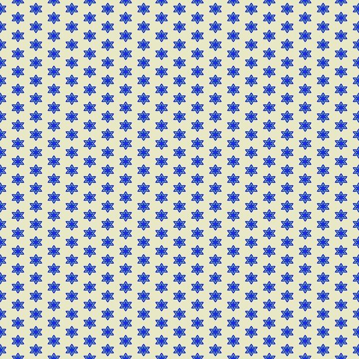Star Background, Backdrop, Blue, Yellow, Design, Shape