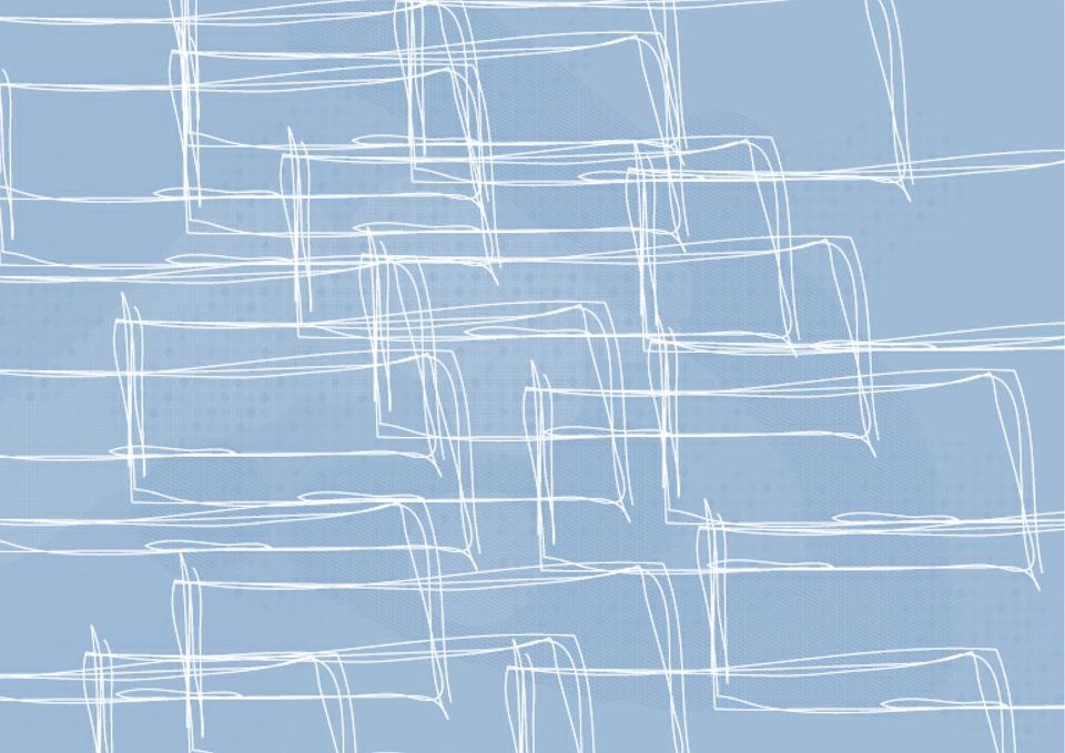 Background, Blue, Modern, Drawn
