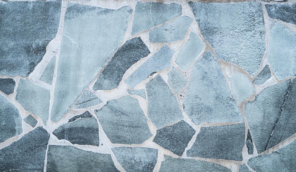 Wallpaper, Background, Stone, Texture, Gray, Blue, Tile