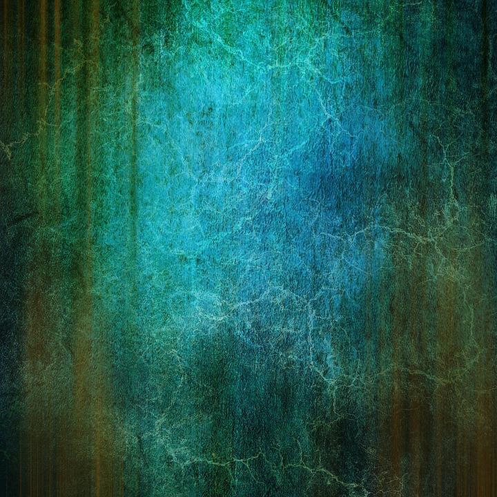 Background, Blue, Green, Old, Structure, Vintage