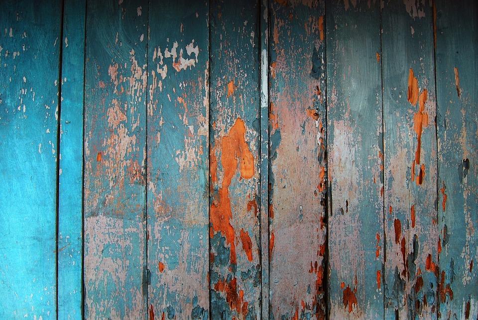 Wood, Colors, Blue, Contrast, Background, Wear