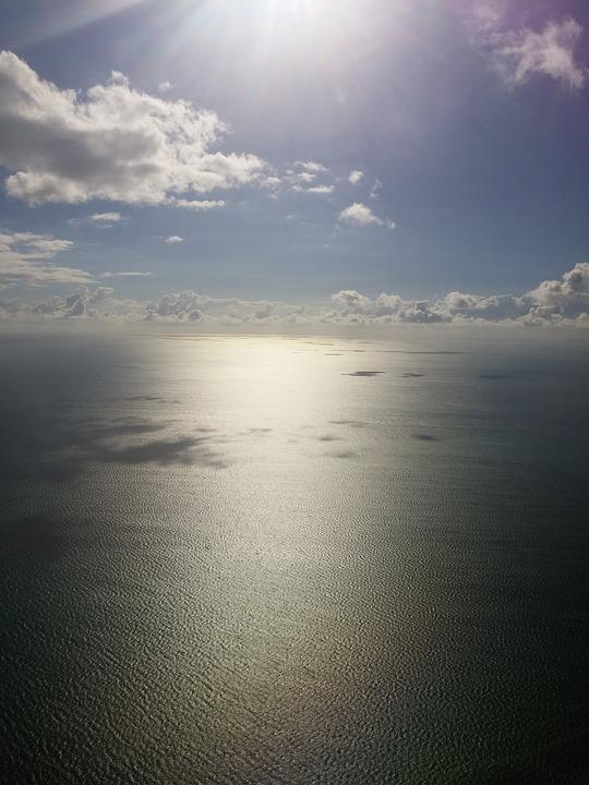 Sun, Sea, Ocean, Blue, Caribbean, Bahamas, Clouds