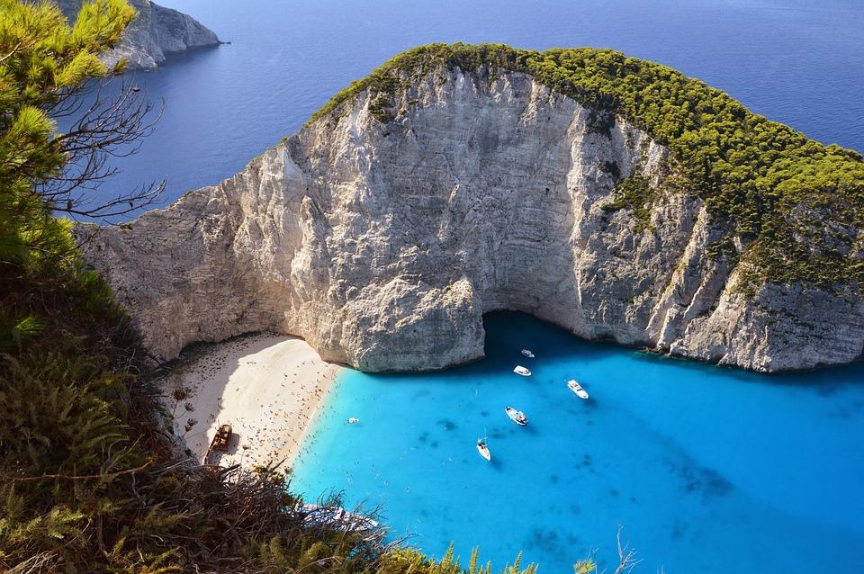 Sea, Beach, Greece, Zakynthos, Blue Beach, Blue Sea