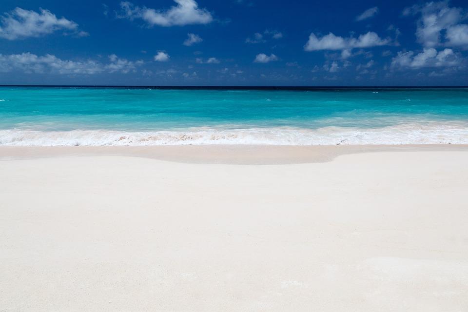 Background, Beach, Blue, Clear, Cloud, Coastline