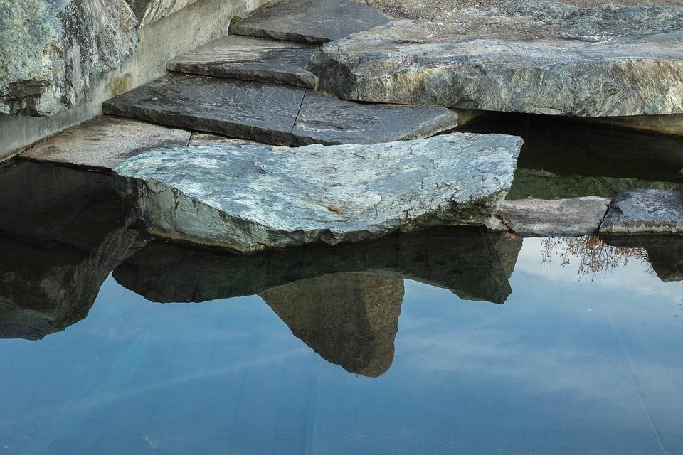 Lake, Stones, Rock, Nature, Beach, Blue, Mirroring